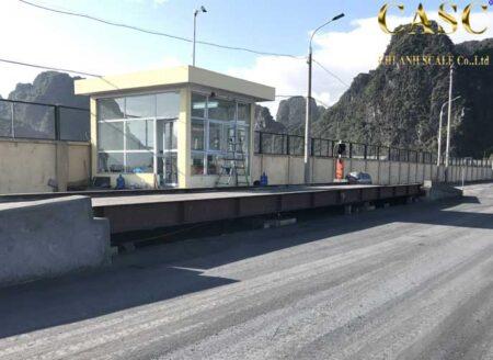 Lắp đặt cân bê tông 80 tấn