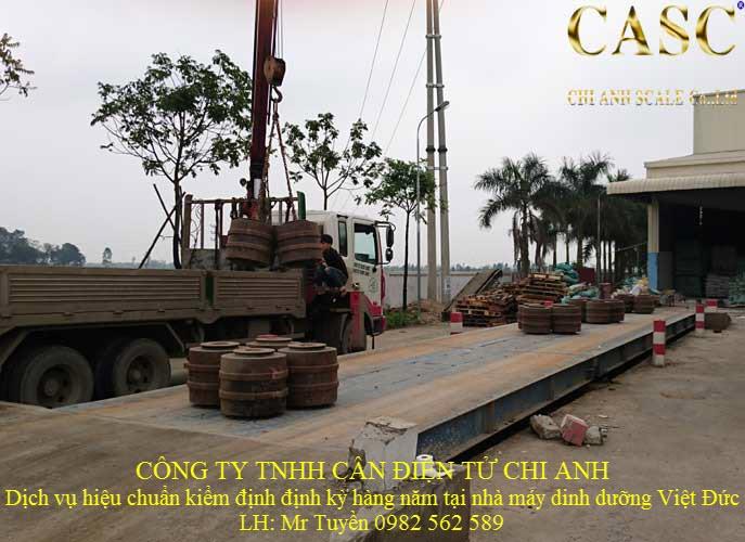 Hiệu chuẩn kiểm định cân xe tải 80 tấn