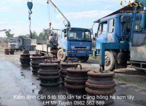 Kiểm định cân xe tải 100 tấn