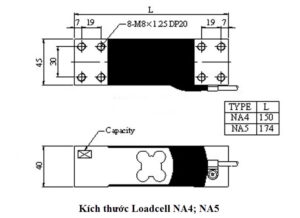 Kích thước Loadcell NA4