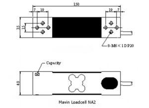 Kích thước Loadcell NA2