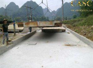 tháo dỡ di chuyển trạm cân xe tải 120 tấn
