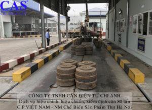 kiểm định cân tại nhà máy C.P.Việt Nam