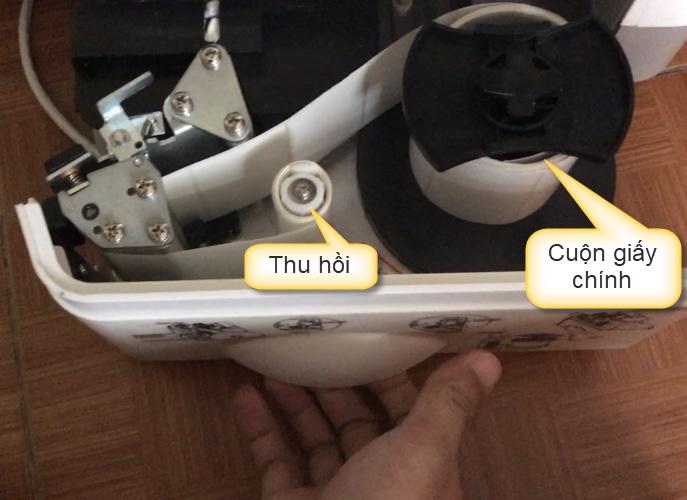 Ngăn chứa máy in và giấy cân TM-A